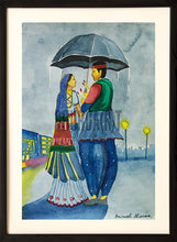 Load image into Gallery viewer, A Loving Couple under an Umbrella