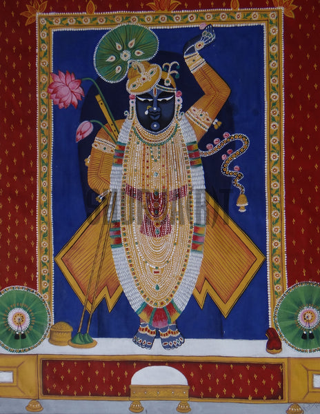 Miniature painting of SrinathJi