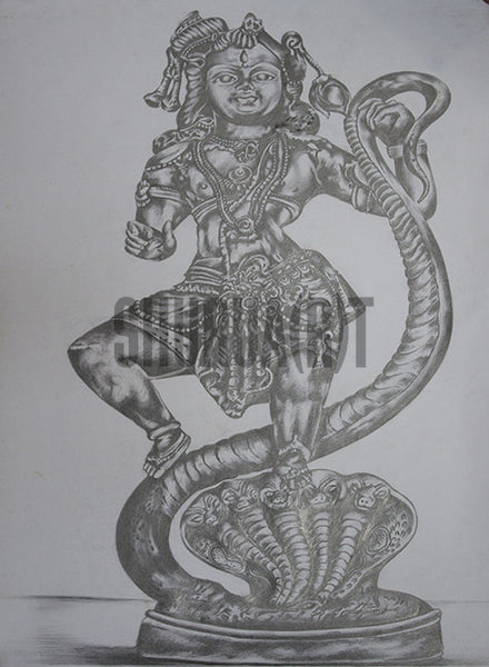 Sketch of God Krishna
