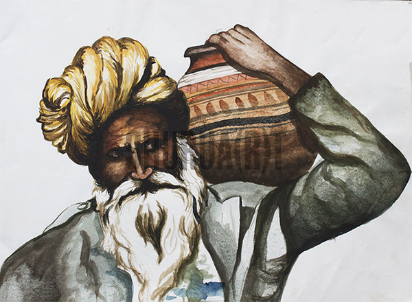 An Old Man With Turban