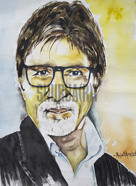 Portrait of Amitabh Bachchan