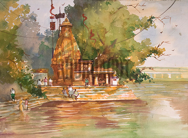 A Temple and a Pond