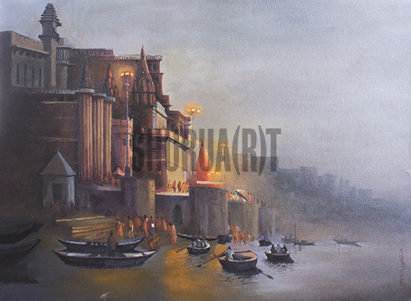 Original Painting of Varanasi Ghat