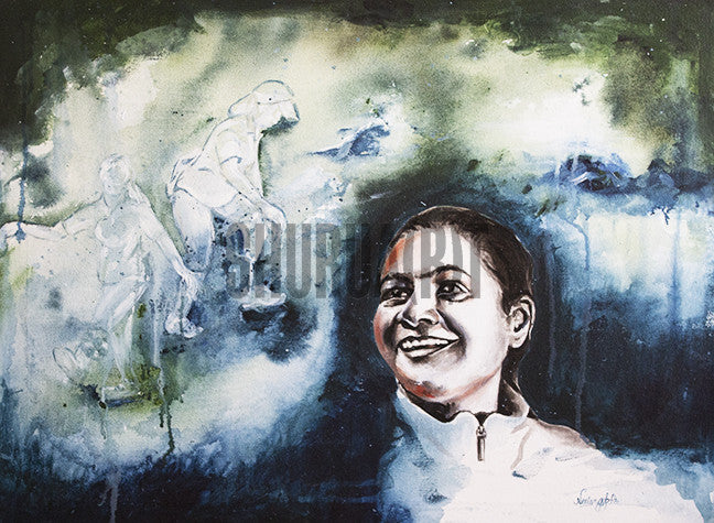 Original Painting of Arunima Sinha