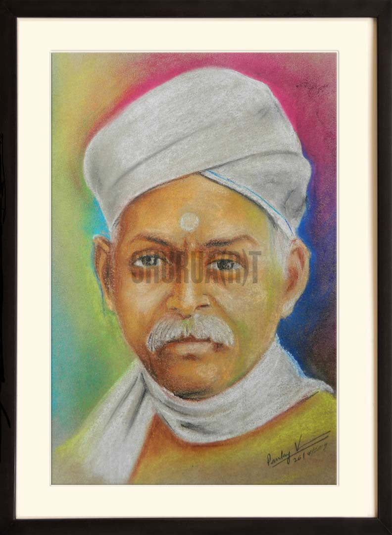 Portrait of Pt. Madan Mohan Malaviya