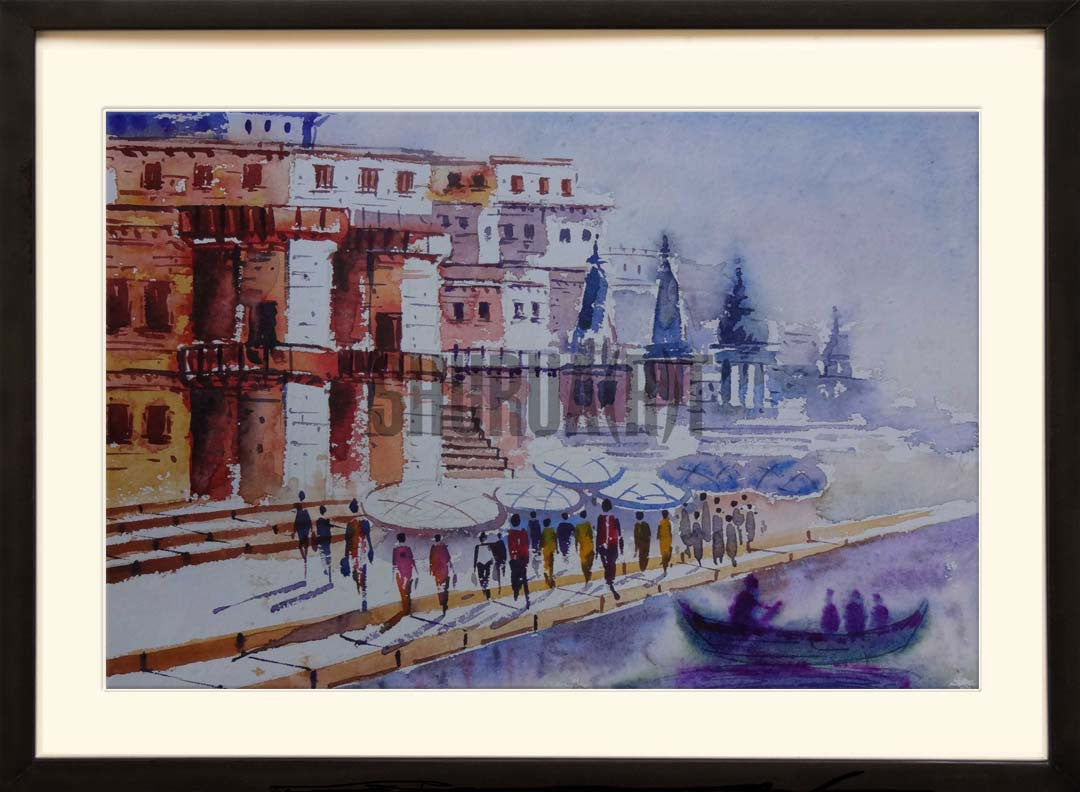 Painting of famous Varanasi Ghats