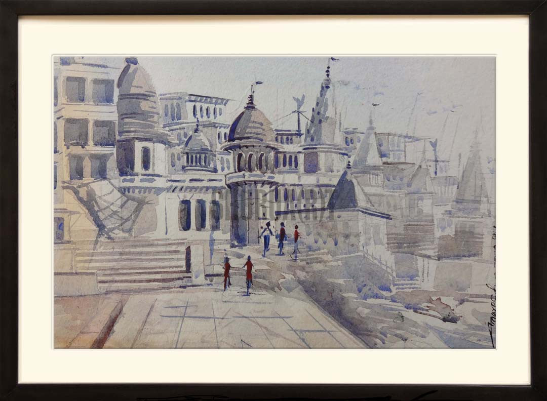 Painting of Manikarnika Ghat