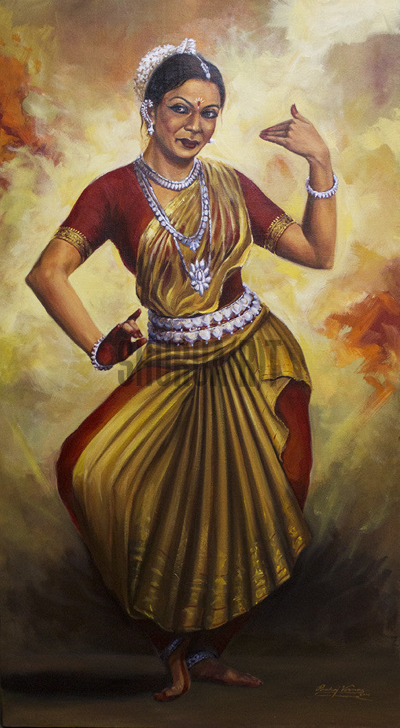 Original Painting of an Indian Classical Dancer