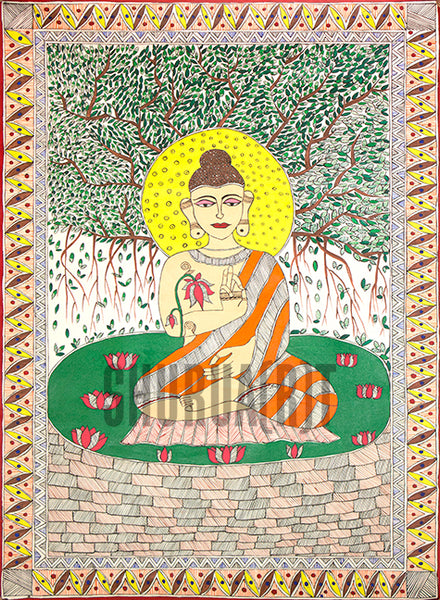 Gautam Buddha: Indian Miniature