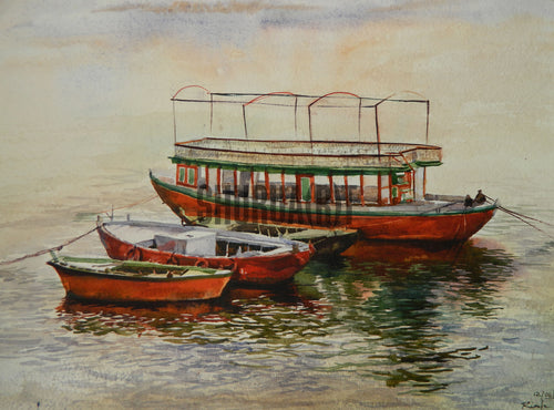 Boats in River Ganges