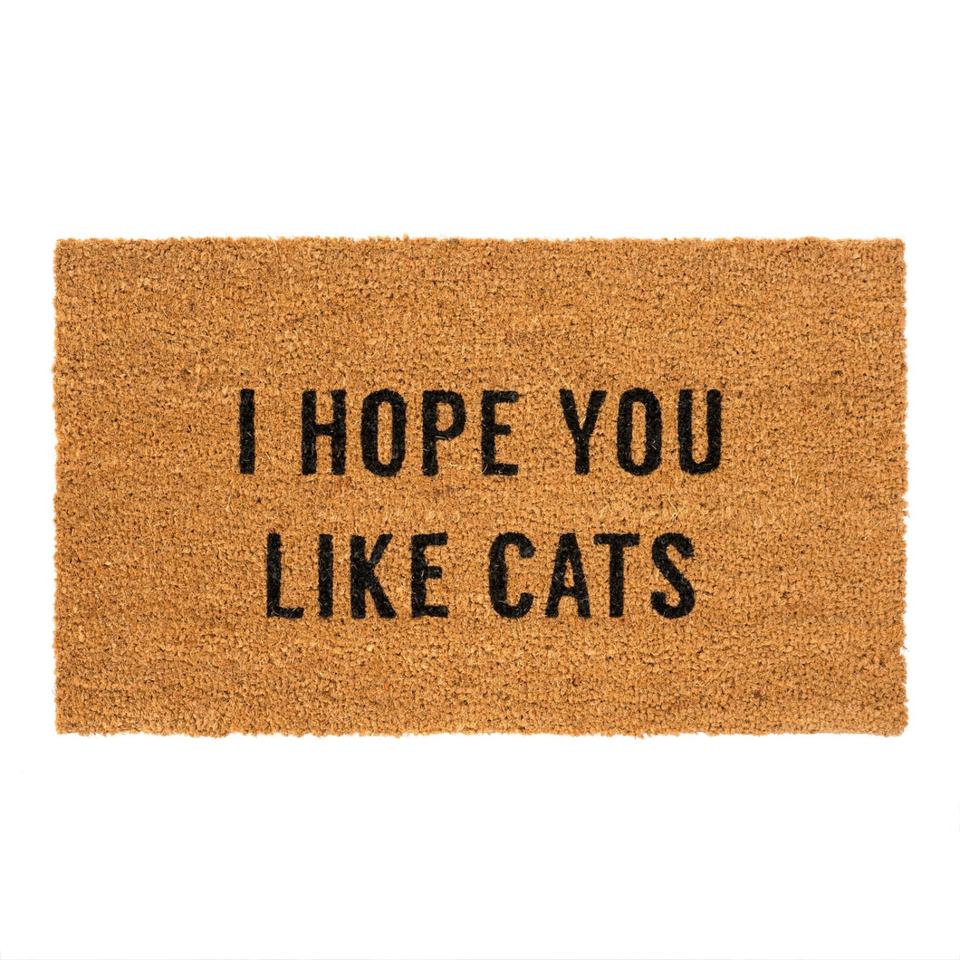 Hope You Like Cats Doormat - Gold Leaf