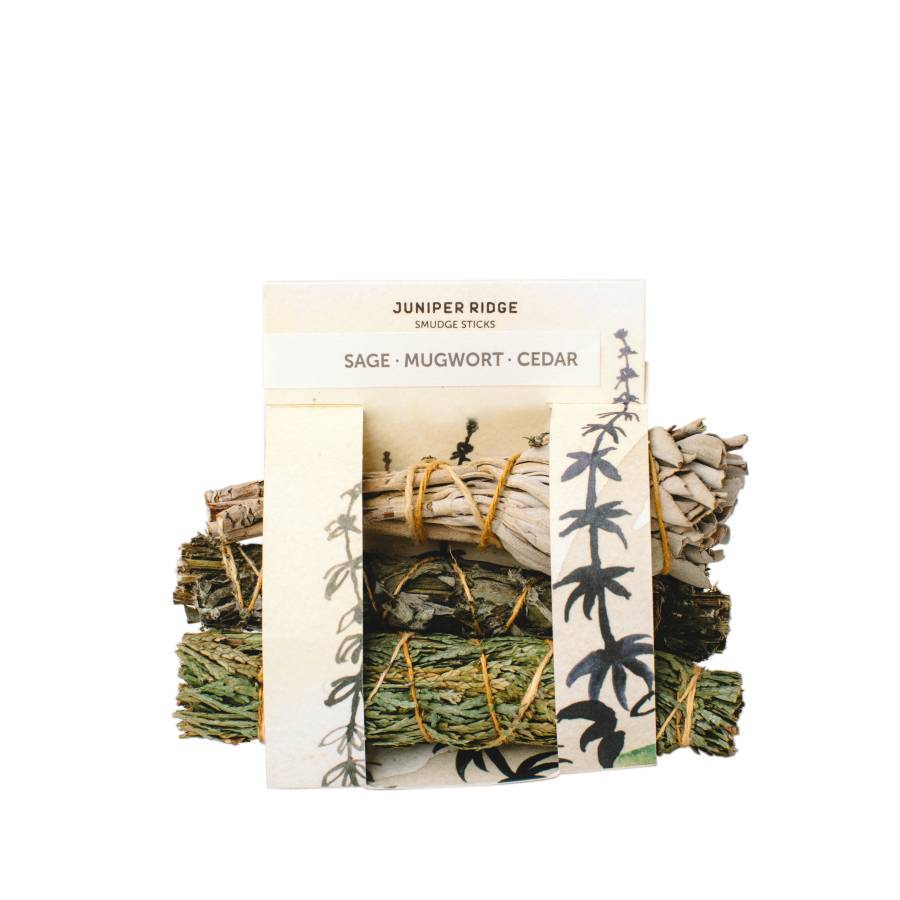 Smudge Cedar, Mugwort and Sage