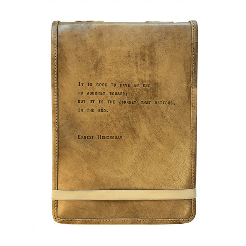 Leather Journal - Gold Leaf