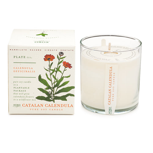 Calendula Candle - Gold Leaf