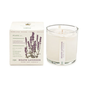 Heath Lavender Candle - Gold Leaf
