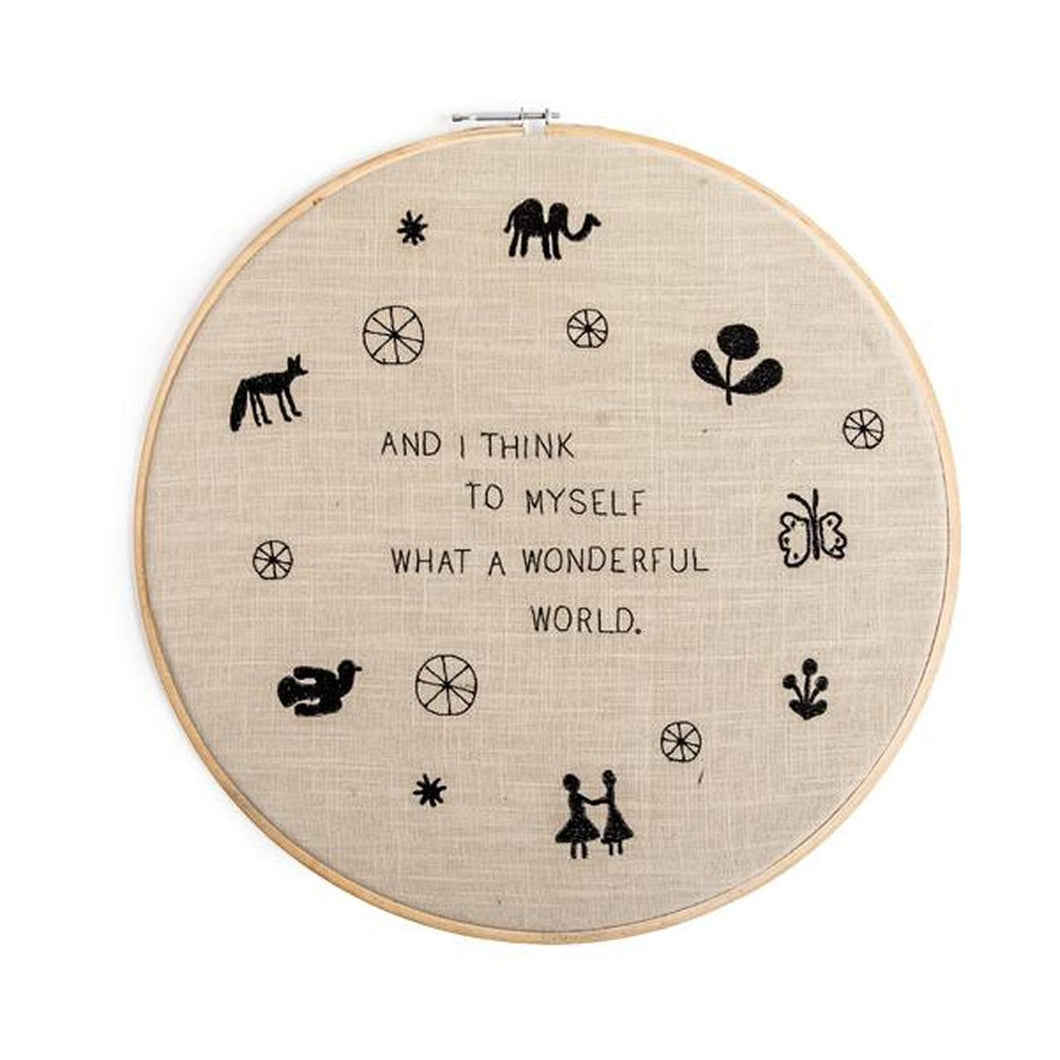 Embroidery Hoop - Gold Leaf