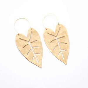 Heart Leaf Earrings - Gold Leaf