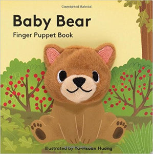 Baby Bear Finger Puppet Book - Gold Leaf