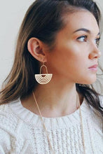 Load image into Gallery viewer, Rainbow Arch Earrings - Gold Leaf