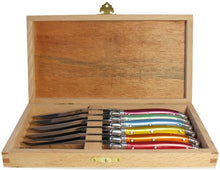 Load image into Gallery viewer, Rainbow Laguiole Knives - Gold Leaf