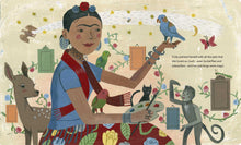 Load image into Gallery viewer, Frida Kahlo and Her Animalitos - Gold Leaf