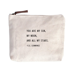 Canvas Quote Pouch