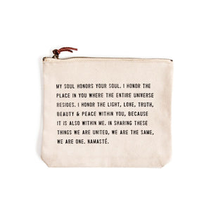 Canvas Quote Pouch - Gold Leaf