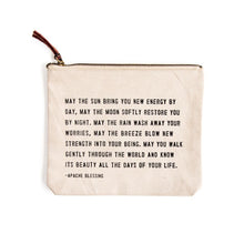 Load image into Gallery viewer, Canvas Quote Pouch - Gold Leaf