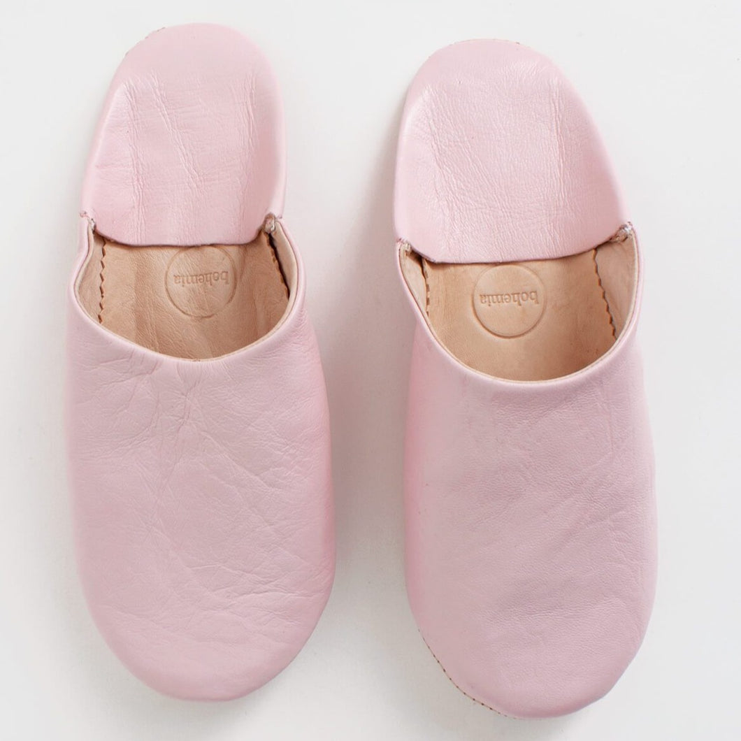 Moroccan Babouche Slippers-Pink - Gold Leaf