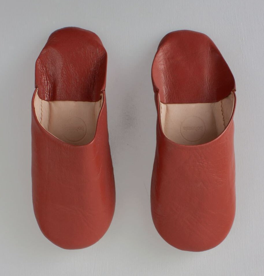 Terracotta Moroccan Babouche Slippers
