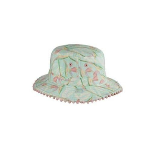 Mint Harmony Girls Bucket Hat - Gold Leaf