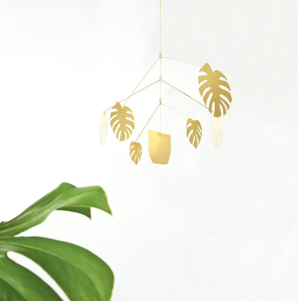brass monstera natalie joy mobile