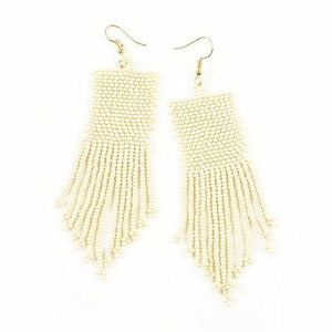 Seed Bead Earrings - Gold Leaf