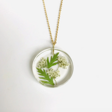Load image into Gallery viewer, Small May White Hawthorn Full Moon Pendant