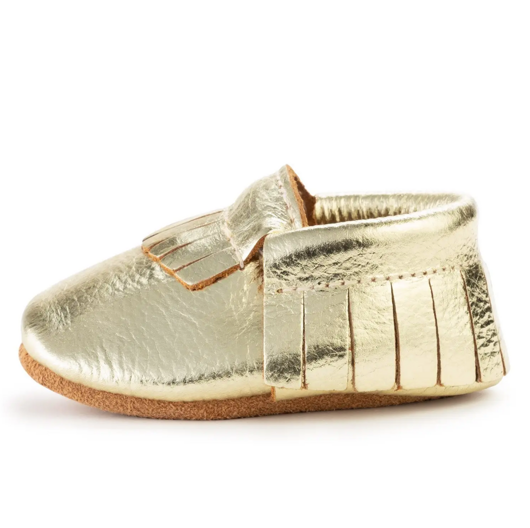 Gold Baby Moccasins