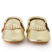 Load image into Gallery viewer, Gold Baby Moccasins