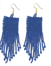 Load image into Gallery viewer, Seed Bead Earrings - Gold Leaf