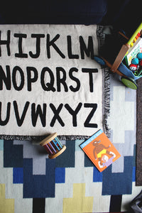 Mini Alphabet Throw Blanket