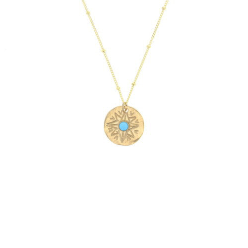 Gold Sundial Necklace