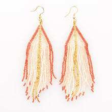 Load image into Gallery viewer, Ombre Fringe Earring - Gold Leaf