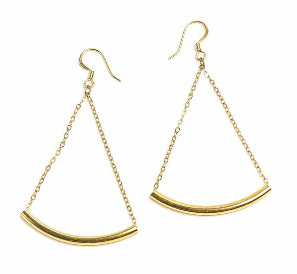 Swing Earrings - Gold Leaf