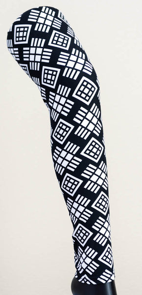Black & White Pattern Workout Leggings
