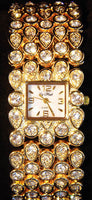 La Mode Gold Tone Cubic Zirconia Watch