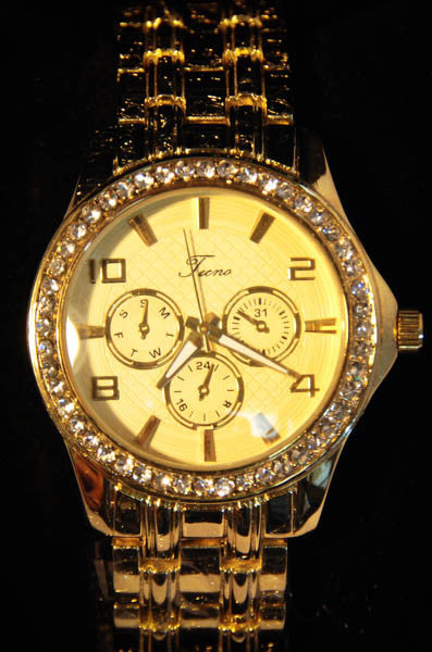 Tecno Gold Tone Metal Watch for Women