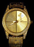 Geneva Cross with Cubic Zirconia Men's Watch