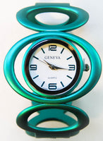 Geneva Turquoise Women's Bangle Cuff Watch