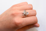 Beautiful Sterling Silver Crystal Starfish Ring