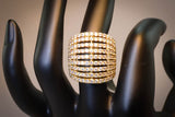 Gold Plated Cubic Zirconia Ring Size 7