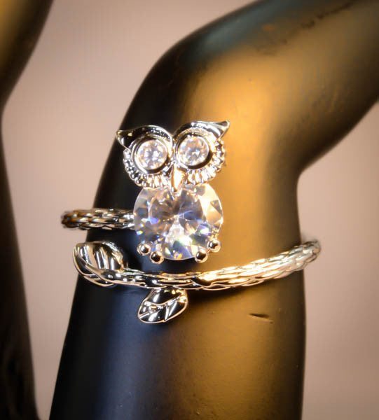 Free Size Wrap Owl Ring for Women