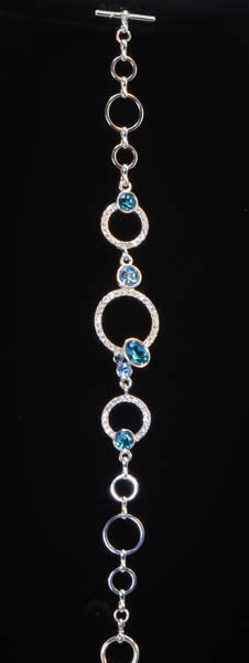Swarovski Elements Cubic Zirconia bracelet with Blue Crystals